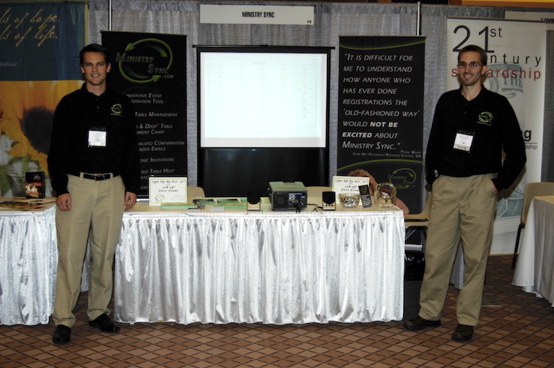 Jason and Adam at their First Care Net Conference
